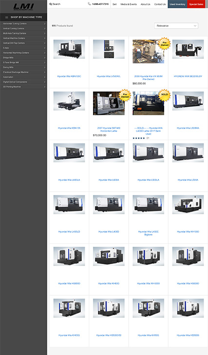 Custom B2B CNC Machine Dealer Website - Lamarche Machinery