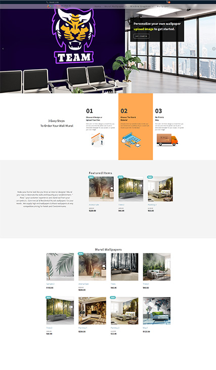 Custom Ecommerce Development - Wall Paper Business Edmonton